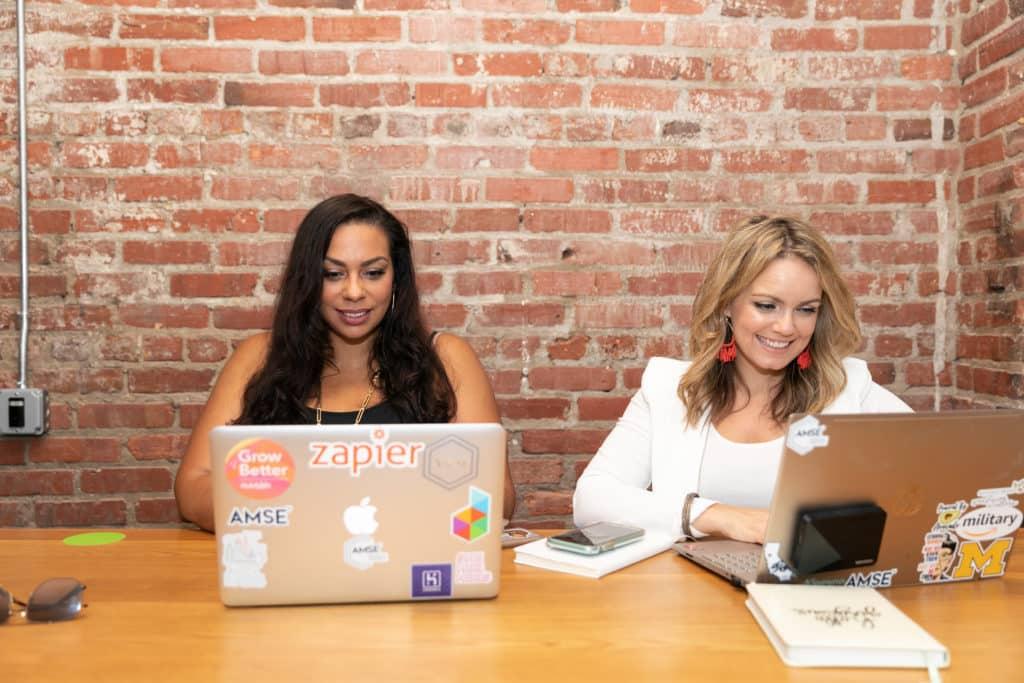Military spouse entrepreneurs Moni Jefferson and Flossie Hall